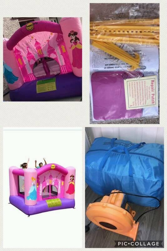 Girls pink bouncy castle