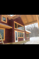 Johnson Log Home Restoration Handyman - staining and painting!