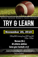 Halifax Xplosion Women's Tackle Football - Try & Learn