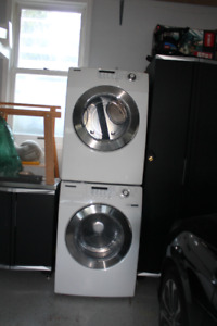 Samsung washer, dryer and stacking kit