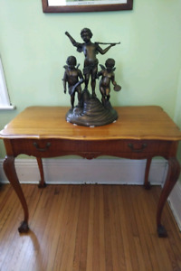 Antique Walnut  Table with Leaves For Dining