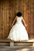 Selling my wedding dress, worn once and drycleaned professionall