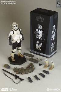Sideshow Star Wars autographed Scout trooper special edition