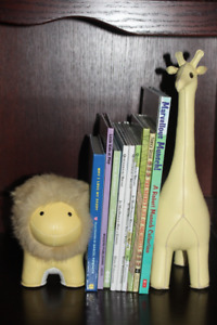 ZUNY Leather Bookends *** Nursery or Child's Bedroom ***