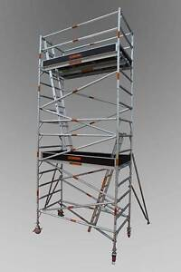 DOUBLE WIDTH ALUMINIUM SCAFFOLD 1.3 X 2.5 X 6.2M PLATFORM Revesby Bankstown Area Preview