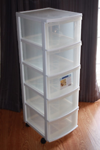 5 drawer storage container on wheels