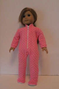 Footed Pajama Sleepers Fits American Girl Doll