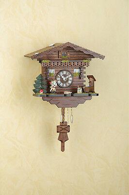 Pendulum Clock Black Forest Cuckoo Clock Spinning Dancer Made in Germany 256pq