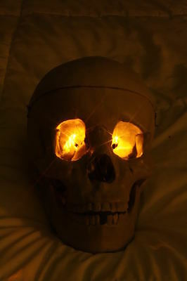 YELLOW LED Eyes Halloween use for jawa monster ghost skull costume and more