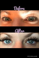 Lash extensions, lash tint and/or lift