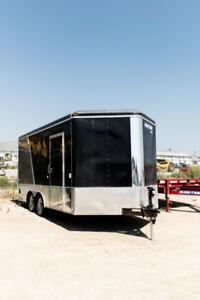 2014 Sure-Trac 8.5 x 16 Pro Round Top Enclosed 7K Ramp Door