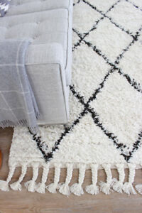 Brand New nuLOOM Hand-Knotted Moroccan Trellis 100% Wool Rug 5x8