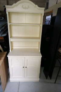 White Desk book shelf and cupboard with book shelf