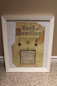 Bank of Hamilton 1915 Calendar in IKEA white frame