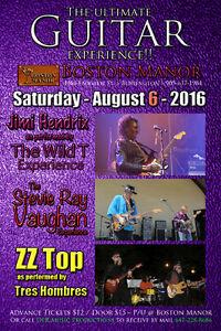 Tony Springer - Jim Hendrix / ZZ Top / SRV - 3 band show Aug 6
