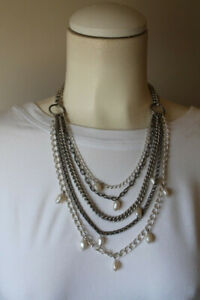 Stella and Dot Avery Chains & Pearl Necklace
