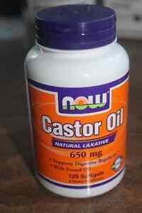 NOW CASTOR OIL SOFTGELS for Intestinal Health (Expiry:01/18)