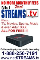 IPTV, Android TV, MAG TV, Watch EVERYTHING for FREE - netSTREAMS