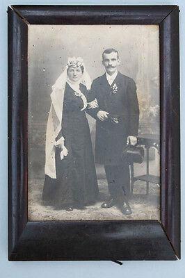 Fotorahmen mit Hochzeitsfoto, um 1900