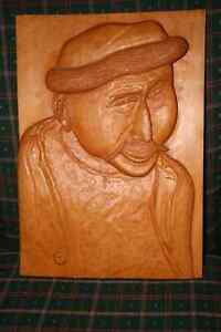 Beautiful wood relief carving
