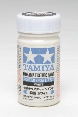 TAMIYA 87120 - DIORAMA TEXTURFARBE - PULVERSCHNEE-EFFEKT WEISS 100ml - NEU