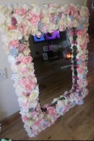 Flowered mirror 78 x 60 cm