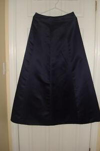 Navy A Line Skirt