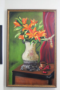 Original Oil Painting on Canvas Art - 25X40 Inches