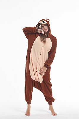 Monkey Animal Adult Onesie0 Costume Unisex One Piece Pajamas Kigurumi Cosplay - Monkey Onesie