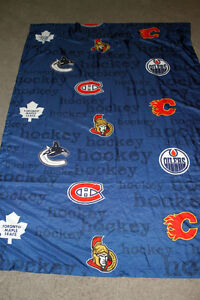 NHL logo curtains
