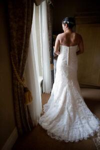 Beautiful Maggie Sottero Fredricka Wedding Dress and veil