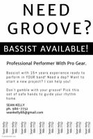 BASSIST AVAILABLE! Folk, Rock, Pop, Jazz, Cover / Function Band
