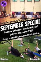 Get Your First Month for FREE in September