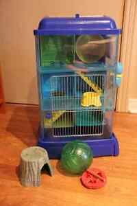 Ware Critter Universe Ava Tower plus a hamster house and a ball