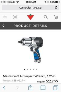 1/2 drive air powered impact wrench