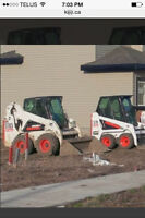 Bobcats for hire.   Snow and earth works