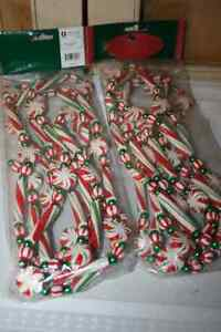 Christmas Garland- Tinsel, wooden & plastic beads-See photos Belleville Belleville Area image 1