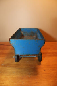Vintage Tin Toy Farm Wagon - Blue London Ontario image 2