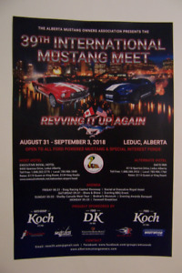 Fords! 39th Int. Mustang Meet-Aug.31-Sept.3,2018