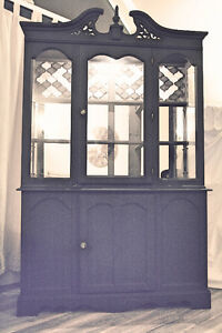 Antique Indigo China Cabinet and Buffet!