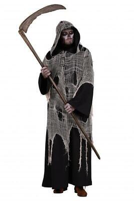 Walking Dead Dämon Horror Zombie Gothic Kostüm Mantel Kleid Frack Umhang Kapuz