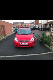 toyota yaris t3 998cc 3dr in red 60k mileage look