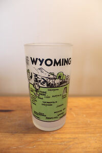 Vintage/Retro Wyoming State Water Glass
