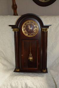 Bombay Company Mahogany Case Wall Clock
