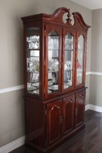 Used Queen Anne dining set- China Cabinet