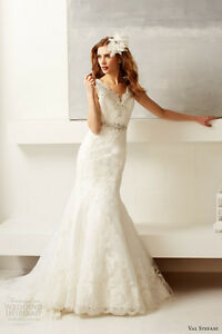 White Lace Wedding Dress - Val Stefani