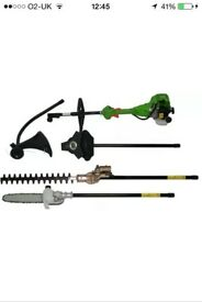 4 in 1 garden multi tool chainsaw,hedge trimmer,brush cutter,grass trimmer
