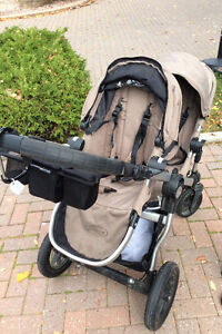 City Select Double Stroller includes extra car seat adapter