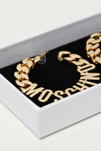 Moschino for H&M GOLD Earrings, NEW NEVER WORN $100