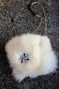 Up-cycled Fox Fur Handbag